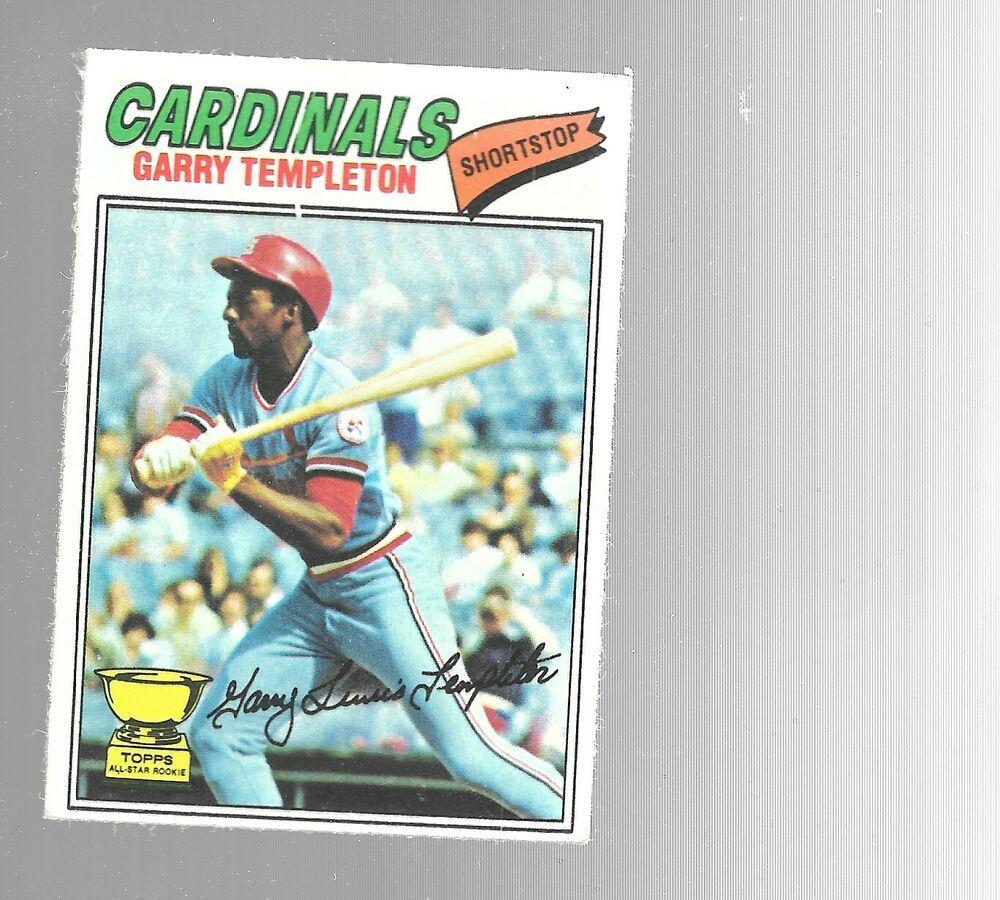 1977 topps garry templeton 161 st louis cardinals all star
