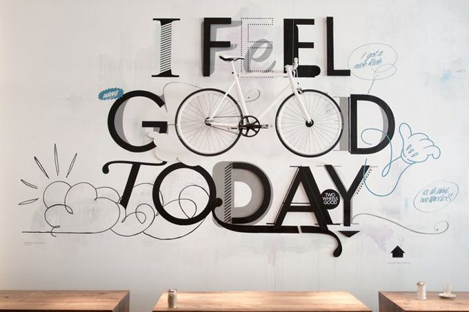 I feel good today.