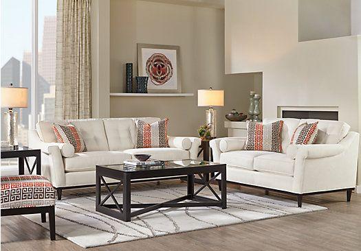 Sofia Vergara Angora Off-White 8 Pc Living Room . $1,738.00. Find ...