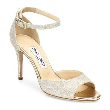 annie 85 glitter d'orsay ankle-strap sandals by Jimmy Choo. Glamorous  glitter