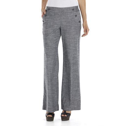 Candie's® Wide-Leg Juniors' Linen Pants