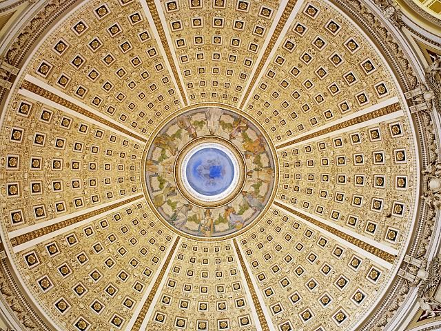 Main Reading Room Interior Of Dome Library Of Congress Thomas Jefferson Building Washington D C Photo By Reading Room Library Of Congress Ceiling Domes