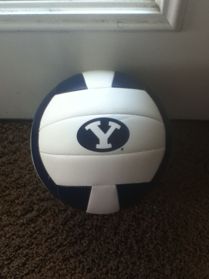 My Byu Volleyball I Got From Camp With Players Signatures Byu Lds Byusports Byu Sports Byu Cougars Byu