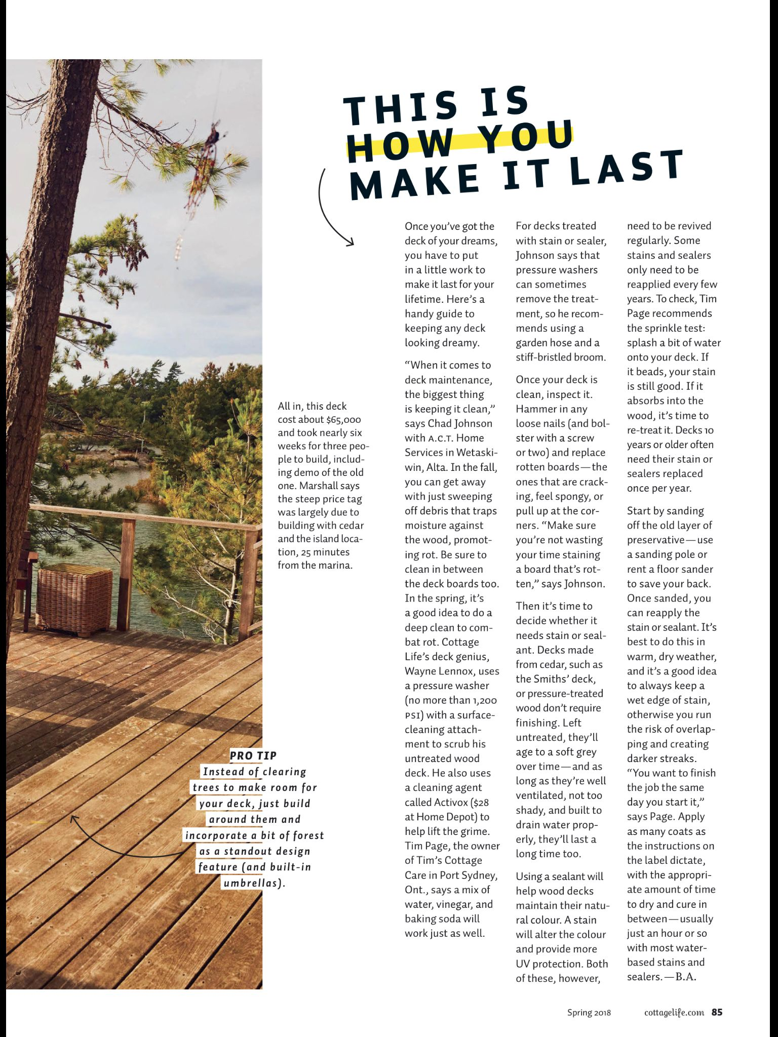 One Heck Of A Deck From Cottage Life Spring 2018 Read It On The Texture Unlimited Access To 200 Top Magazines