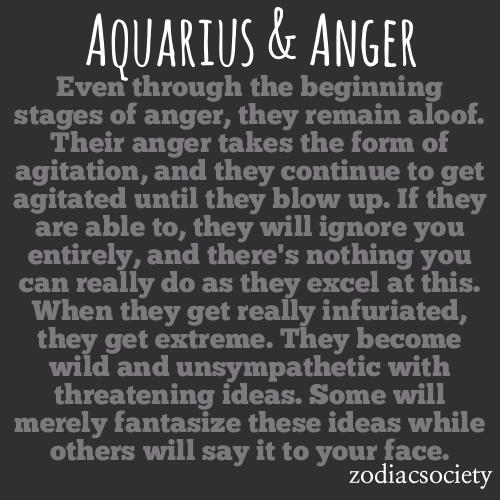 Is angry when aquarius man Aquarius Revenge