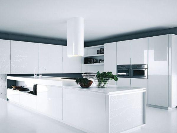 Come dilatare lo spazio in cucina? Con il total look bianco! http ...