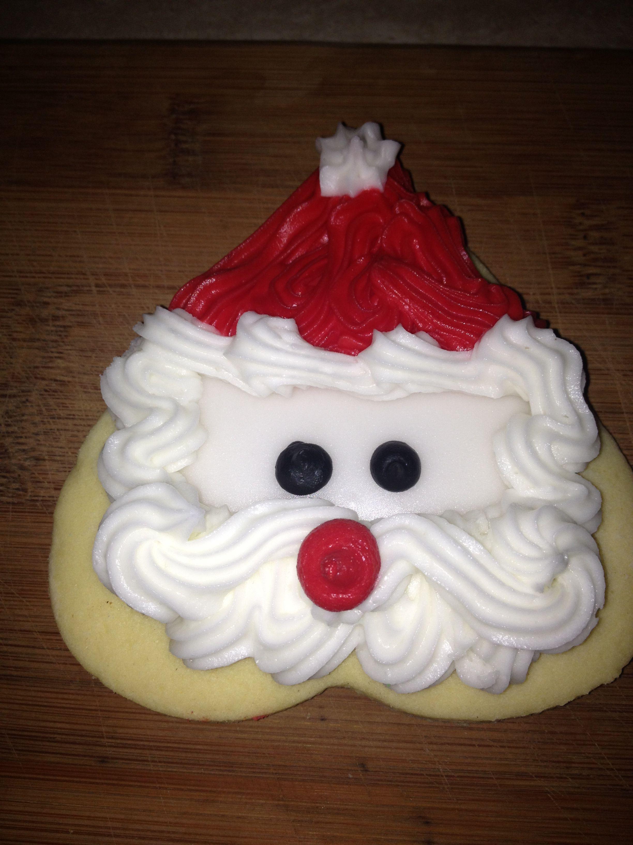 Upside Down Heart Shaped Santa Cookies Recipes Food Ideas Santa