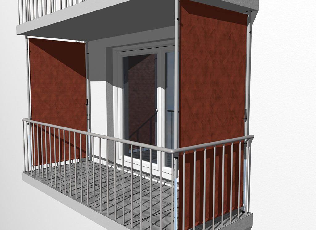 50 Ideen Zum Balkon Sichtschutz Seite Stairs