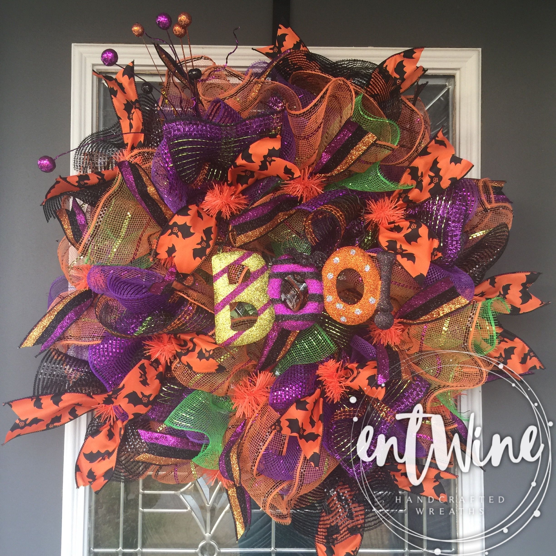 Pin On Haunting Halloween Wreaths