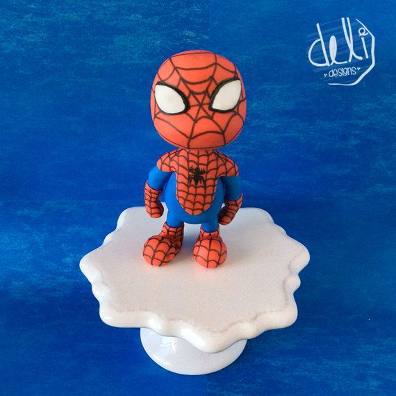 Edible Fondant Spiderman Cake Topper By Delidesignsstore On Etsy