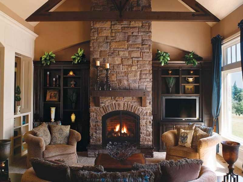 Artificial Stone Fireplace | 18 Photos of the Classic Design of ...