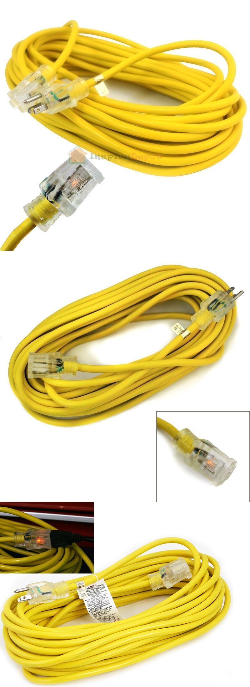 100ft 14gauge Extension Power Cord Copper Wire Ul 15 Amp Current Cable Plug Power Cord Cable Plug Cord