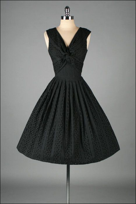 50s dress with triangle detailing