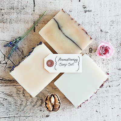Poppy Soap Co: Aromatherapy Organic Bar Soaps, Set of 3