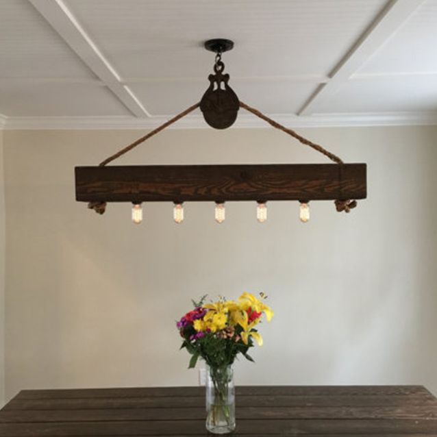 Grenwich Chandelier: Beam & Driftwood – Empire City Trading Co.