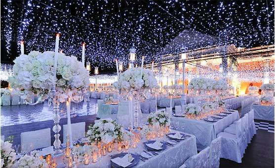 Fairy Tale Reception Halls Winter Wedding Decorations Winter