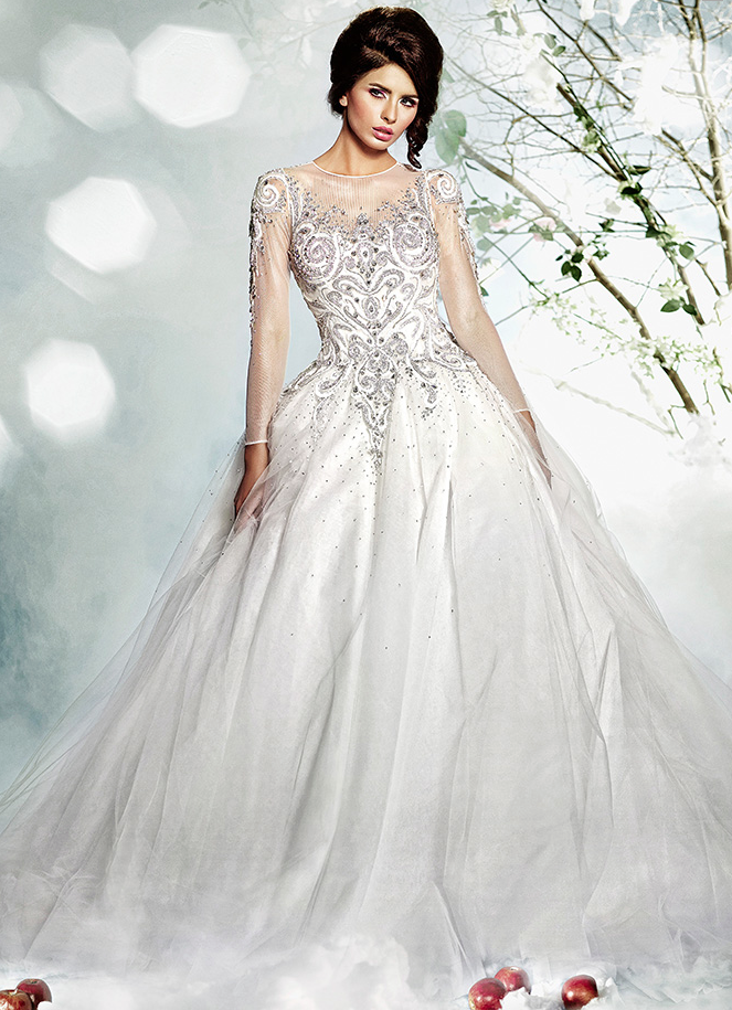 Dar Sara Wedding Dresses 2014 Collection Featuring Elaborate Swarovski Crystals. To see more: http://www.modwedding.com/2013/12/31/dar-sara-wedding-dresses-intricate-laces-crystals/ #wedding #weddings