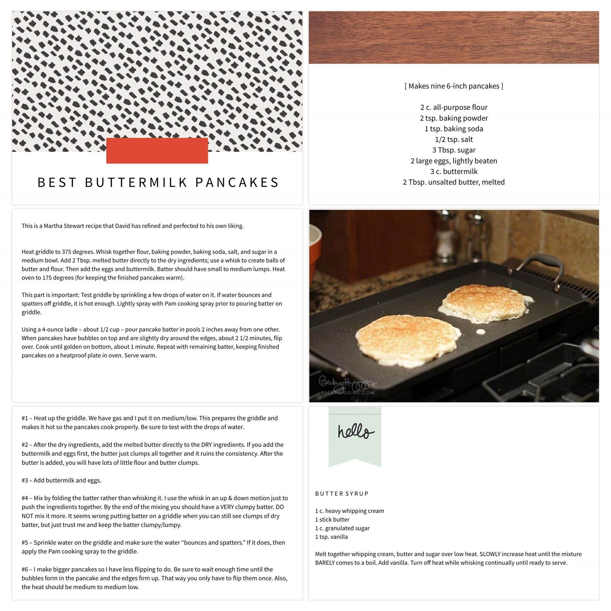 The Best Buttermilk Pancakes Recipe Page Made Using The Project Life App By Becky Higgins Recipes Pancake Recipe Buttermilk Buttermilk Pancakes