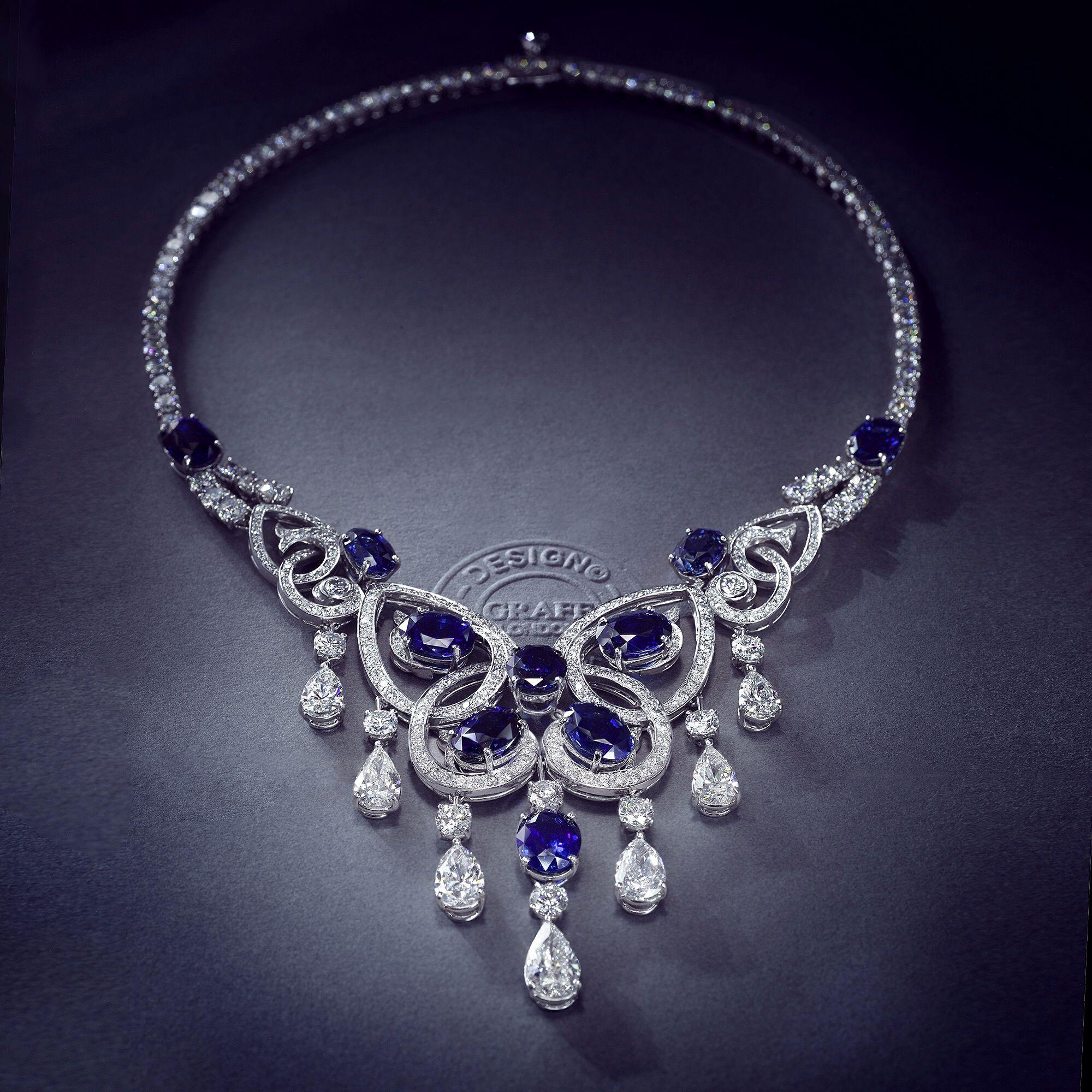 Graff Sapphire and Diamond Necklace GRAFF JEWELRY