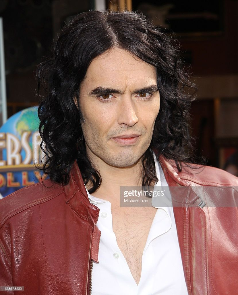 Russell Brand arrives at the Los Angeles premiere of 'HOP' held at Universal Studios Hollywood on March 27, 2011 in Universal City, California.