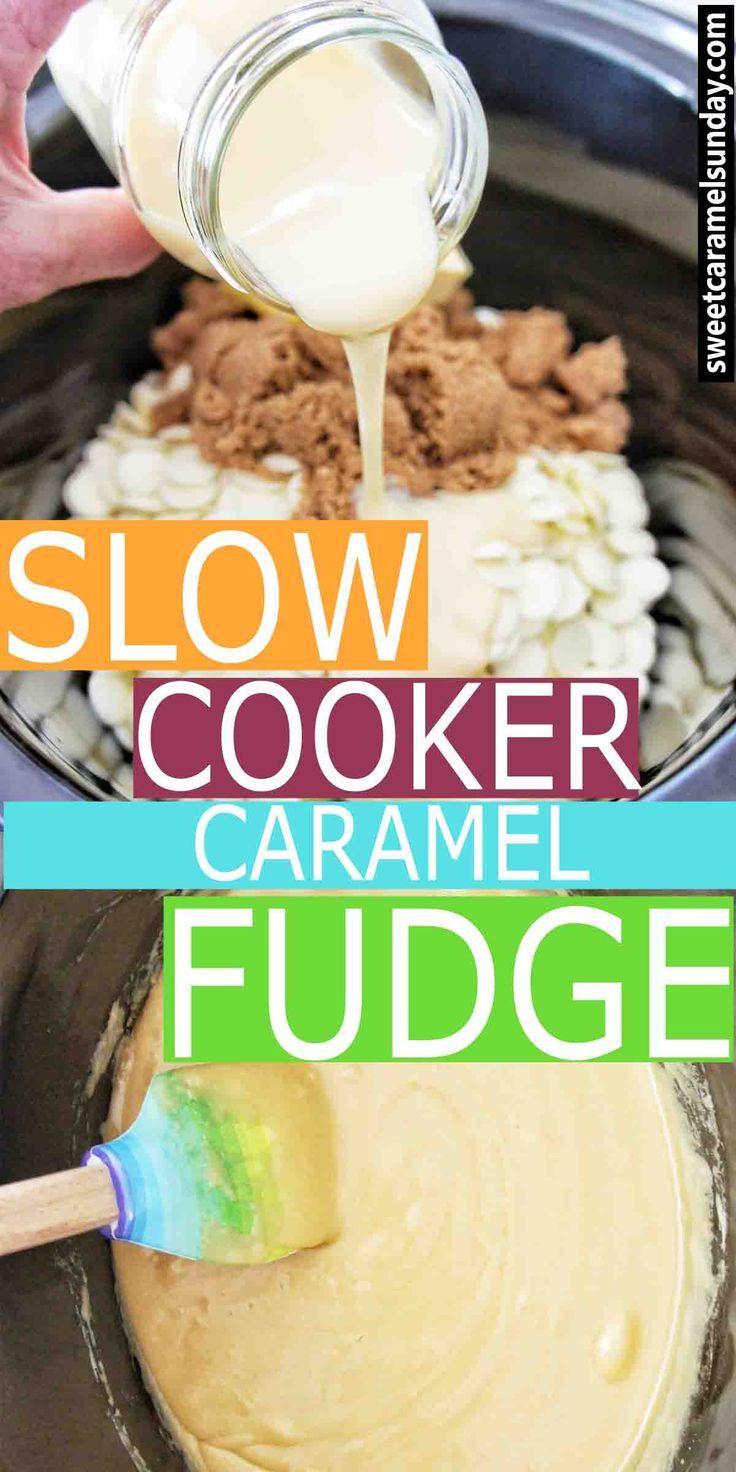 Easy slow cooker caramel fudge nel 2020 ricette