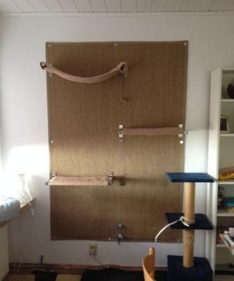 katzenkratzwand katzen katzen wand katzen und katzen. Black Bedroom Furniture Sets. Home Design Ideas
