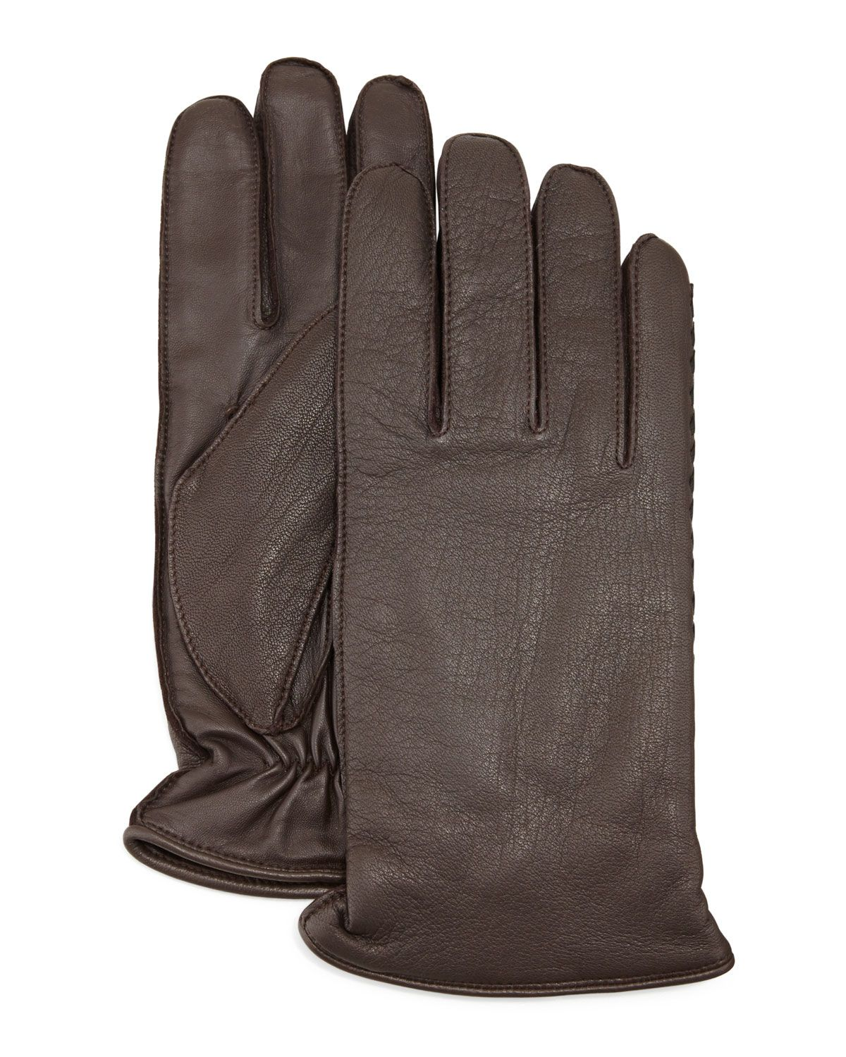 Womens leather gloves au - Whip Tech Leather Gloves Brown Women S Size Large Ugg Australia
