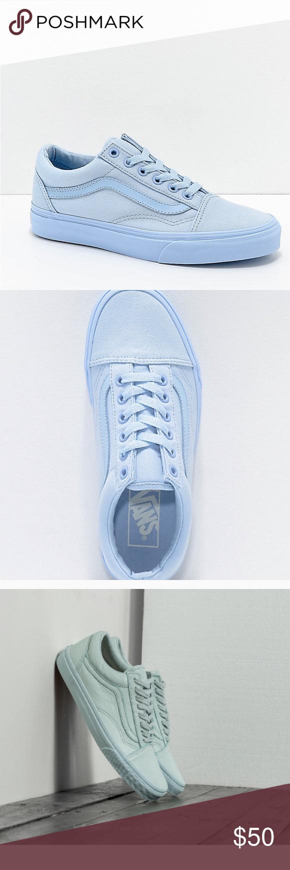 66034db1046c2e Vans old skool mono sky blue Vans old skool mono sky blue sneakers in good  condition