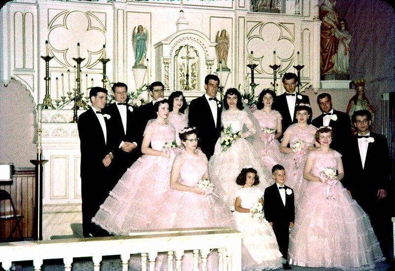 Vintage 1958 Wedding. At Least The Bridesmaids Dresses