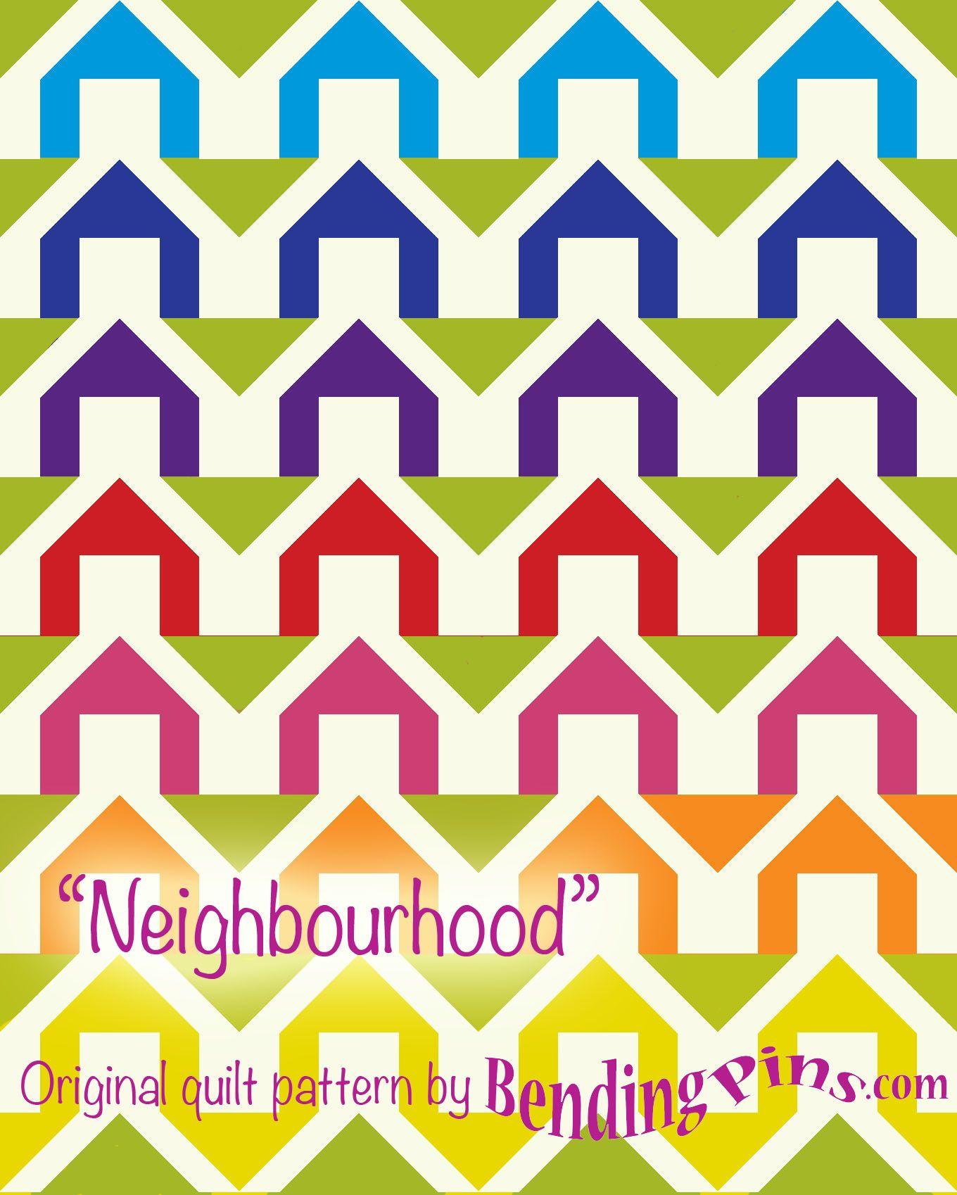 Neighbourhood free block pattern by Bending pins.com
