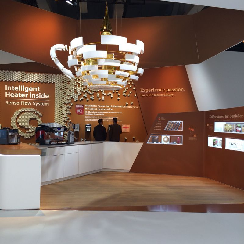 Exhibition Stand Coffee : Ifa siemens coffee area siemens kaffeebereich iq
