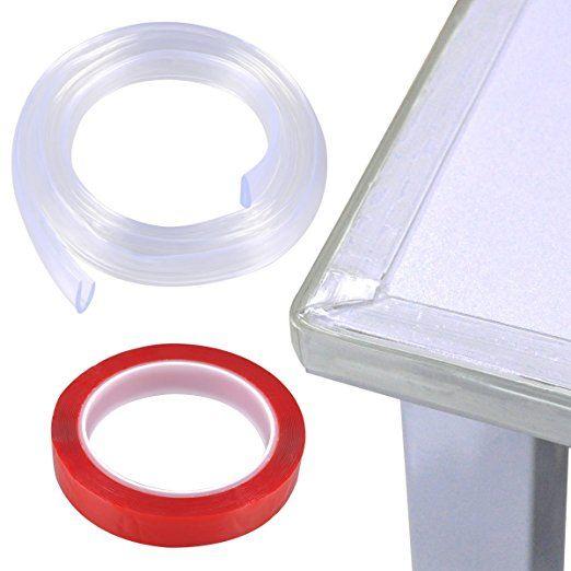 Black 10x Baby Table Desk Safe Edge Corner Cushion Guard Bumper Protector