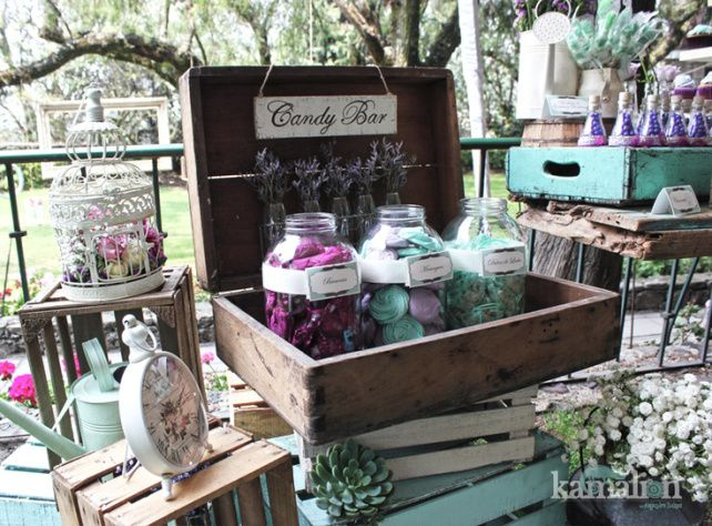 objetos de decoracion para candy bar rustico buscar con google