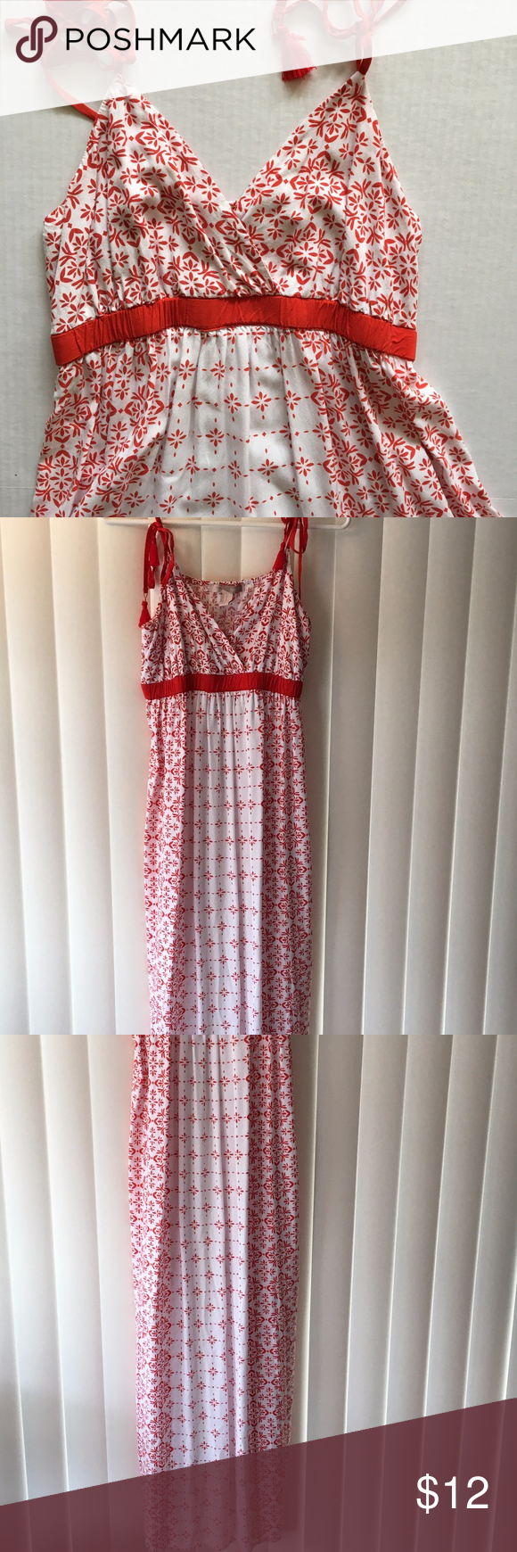 Forever redwhite strappy maxi dress forever red st