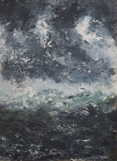 August Strindberg (Swedish, 1849-1912), Storm Landscape, October 1894. Paper-panel, 32 x 23.5 cm.