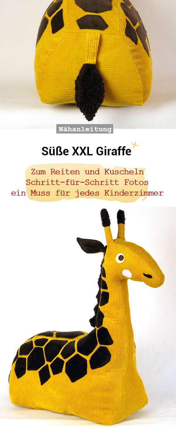 Kuscheltier Giraffe - Frau Scheiner #sewtoys