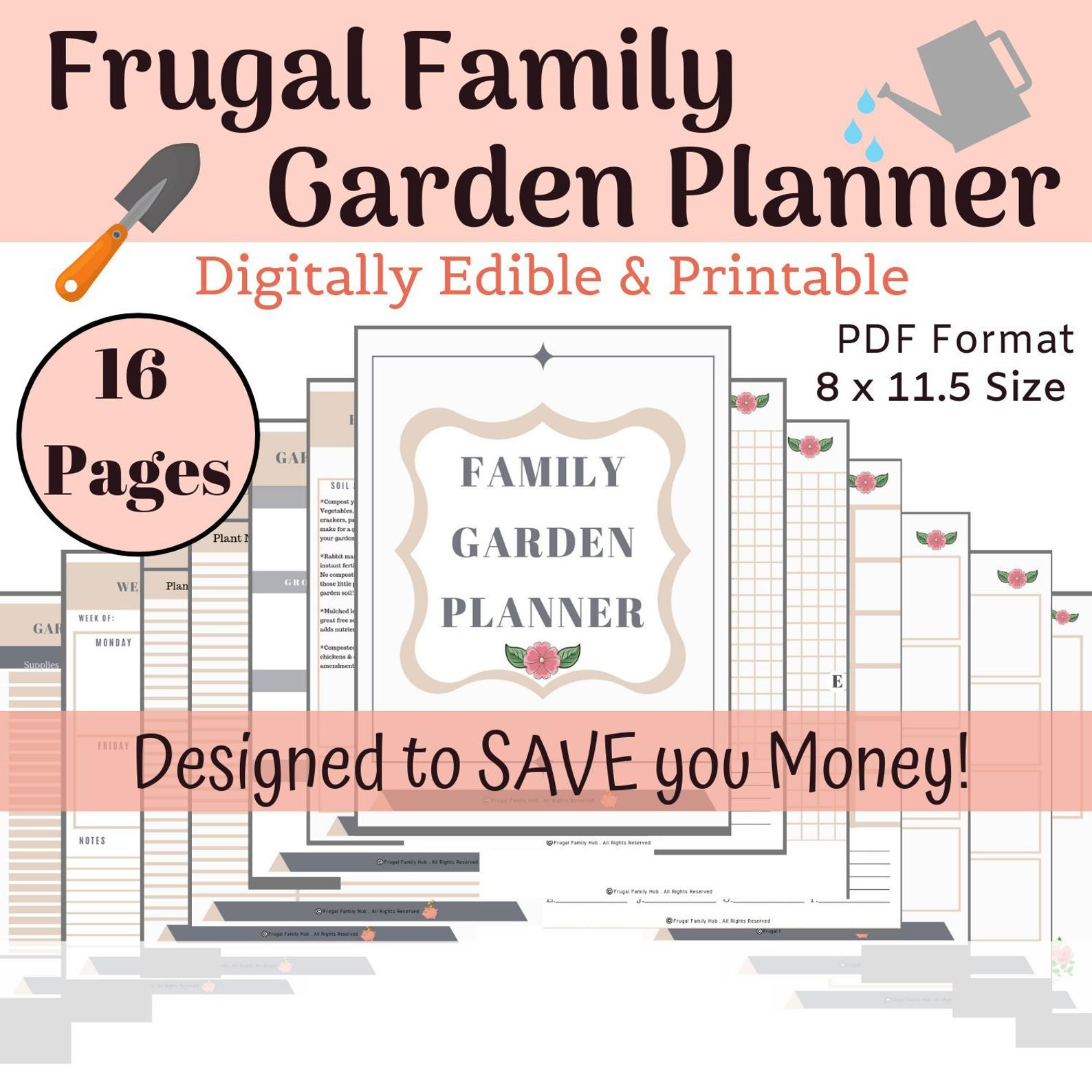 Garden Planner Garden Planner Printable Digitally