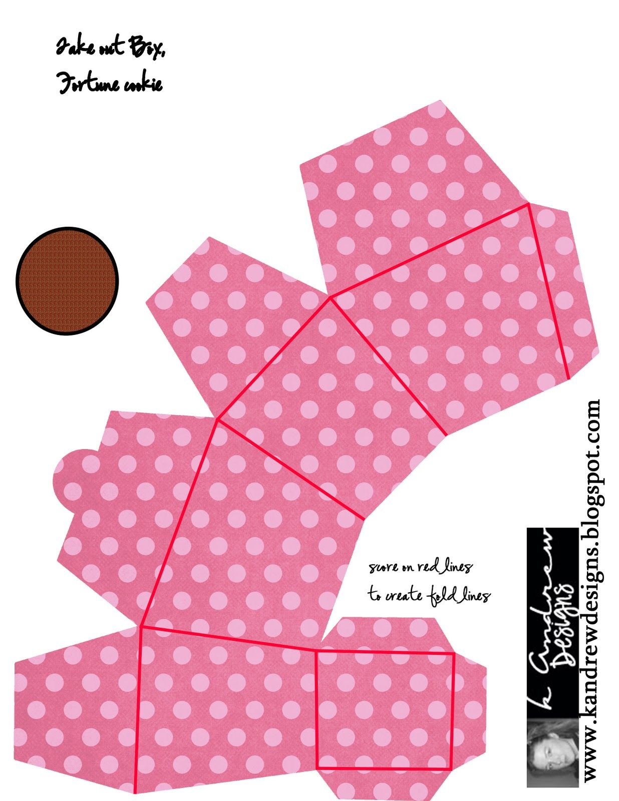 cookie box template | Tutorial: 3D Fortune Cookies, Take-out Box ...