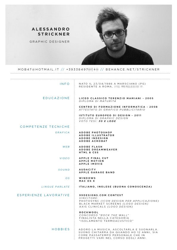 Cartes De Visite Entreprendre Cv Original Programme Denseignement Curriculum Portfolio By Alessandro Strickner