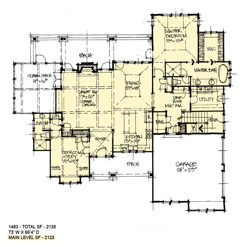 House Plan 1483 Family Friendly Dream Home How To Plan Conceptual House Plans
