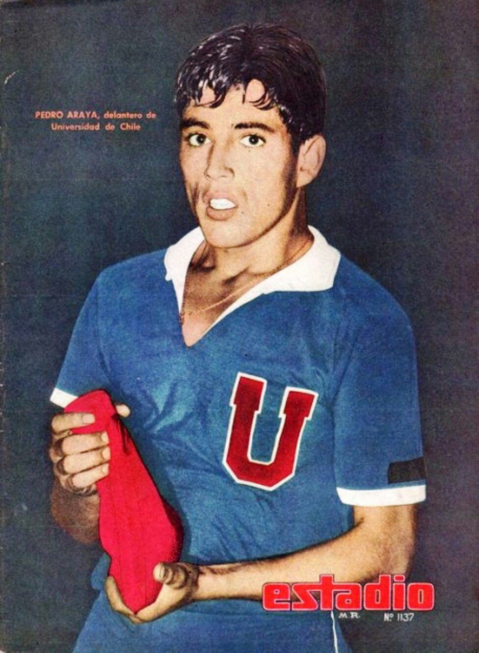 Pedro Araya Toro of Universidad de Chile in 1969.   U de chile ...