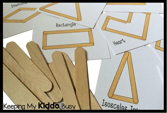Ähnliche Artikel wie Gebäude Formen - Popsicle Sticks beschäftigt Bag - Kindergarten, Kleinkind beschäftigt Bag Spiel auf Etsy #popciclesticks