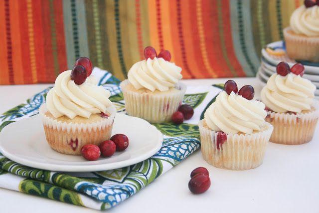 Cranberry Cream Cheese Cupcakes