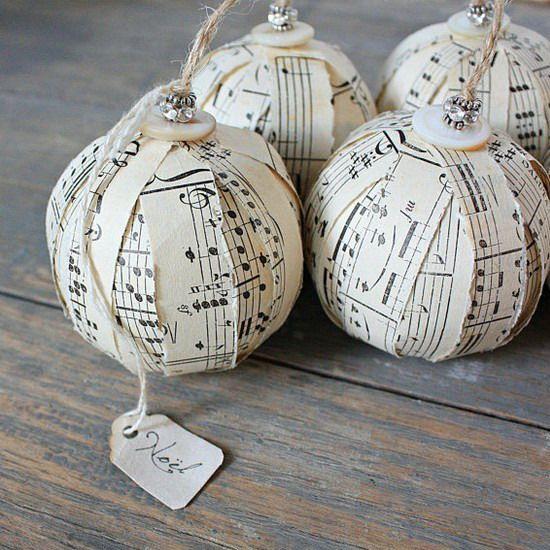 Christmas balls DIY notes