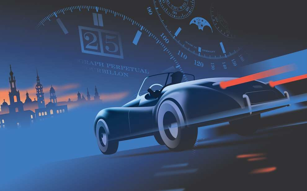 Mads berg bold vector illustration of a car driving
