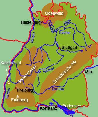 Baden Wurttemberg Allgemein Karte Baden Wurttemberg Lernen