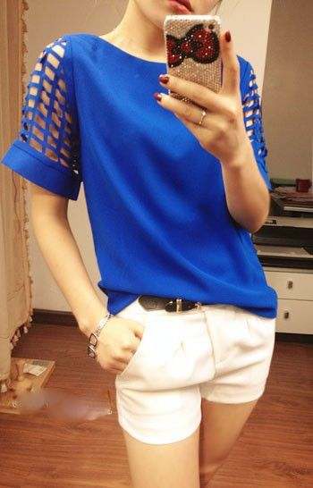 Blue blouse women