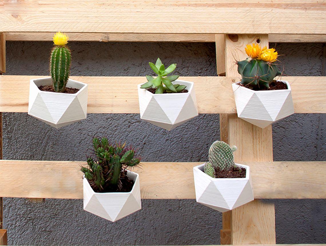 tallgarden es un pequeo macetero de diseo geomtrico para colgar tus plantas y cactus favoritos en