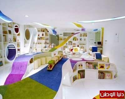 بالصور مكتبة الصين الوطنية للأطفال دنيا الوطن Childrens Library Library Design Kids Interior