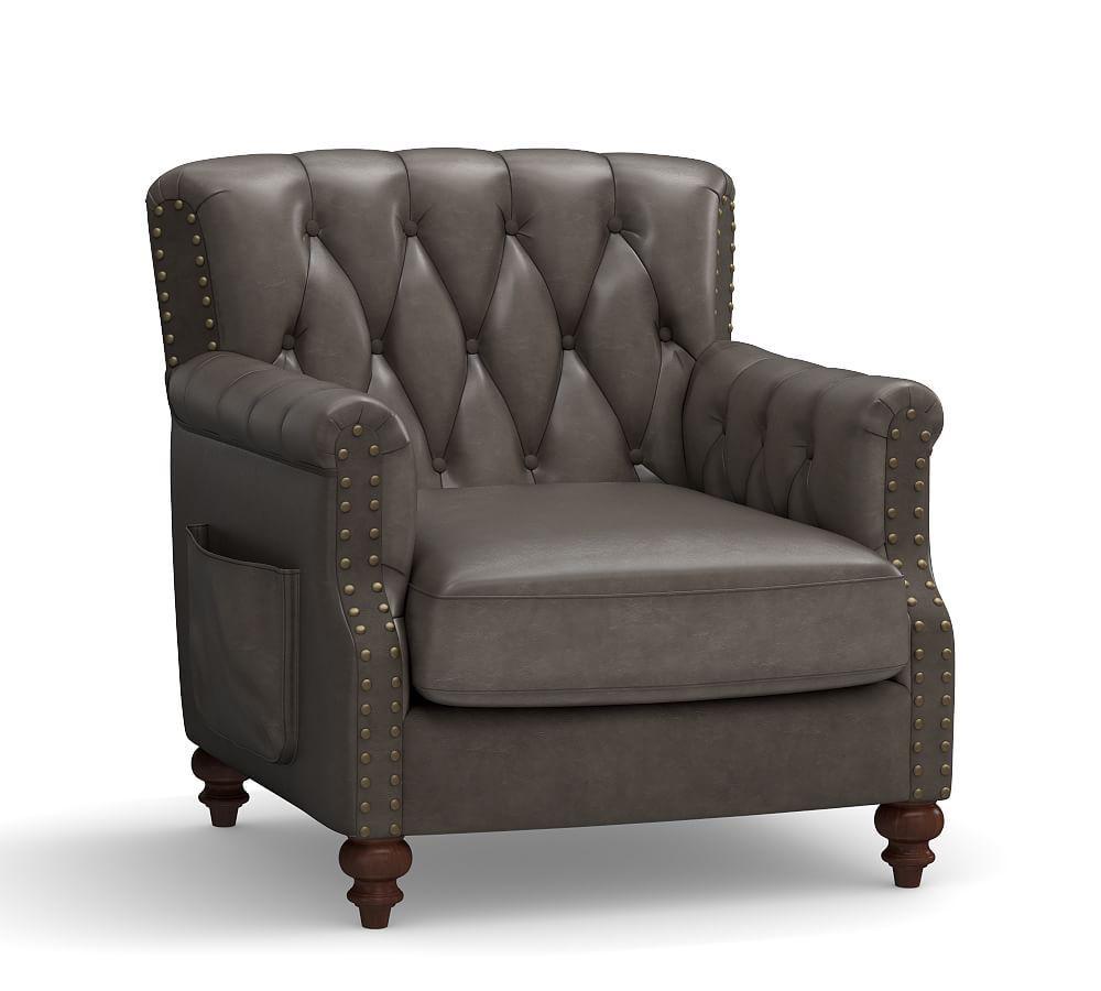 Colton Leather Armchair Armchair Oversized Chair